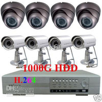 Wholesale 1TB H CCTV DVR Security Cameras Recording System LED camera and LED camera