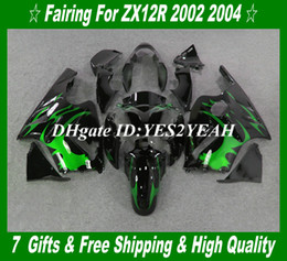 Injection Fairing kit for KAWASAKI Ninja ZX 12R 2002 2005 ZX 12R 02 03 04 05 Full tank cover Fairings set KX41