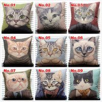 Wholesale Cartoon cat pillow reminisced brief vintage CM CM sofa cushion pillow cover car cushion