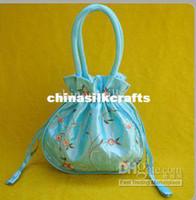 cheap wholesale purses - Cheap Handbags Purses Embroidered Silk Fabric Big Drawstring Bag mix color Free