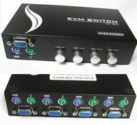 Wholesale Manual Way KVM Switch Box for VGA Monitor PS2 Keyboard amp Mouse