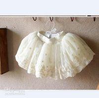 ruffle yarn - 2013 Hot Summer baby girl tutu skirt girl Korean lace floral yarn skirt princess dress Beige green vb