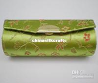 lipstick case - Lipstick Cases Lip gloss Tubes Packaging Silk Metal clasp Lipstick Box Free