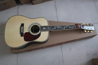 Wholesale acoustic electric guitar HOT SALE D45 acoustic Dreadnought guitar fishman EQ pickup natural Solid spruce Top rosewood back and side
