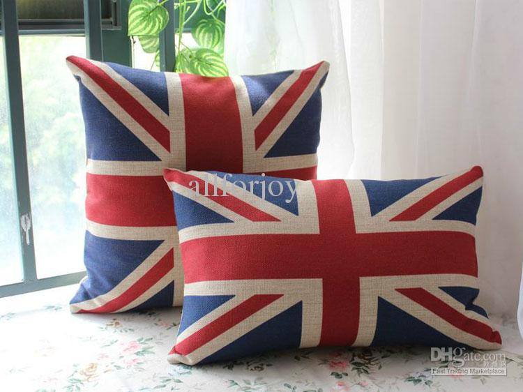 Free Knitting Pattern For Union Jack Cushion Cover : Novelty Uk Flag The Union Jack Flag Pattern Cushion Cover Throw Pillow Case P...