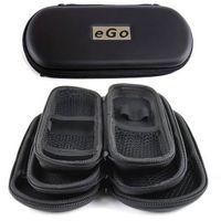 Wholesale High quality EGO Zipper Case Electronic Cigarett Portable case for Atomizer CE4 CE5 CE6 ViVi Nova mah mah Battery Black Color