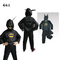 Wholesale 6pcs Masquerade Batman Costumes Halloween Costumes Children s Batman Suit Batman Anime Outfit Performance Clothing