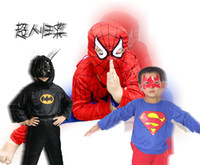 Wholesale 100pcs Halloween Kid s clothing The game clothing Performance clothing Superman costume Batman Spiderman Zorro suits DHL