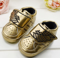 Wholesale 10 off Chic stlyle golden wings baby toddler shoes cotton walker shoes cm sports cheap shoes shoes sale china shoes pair C