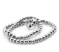 Wholesale 6mm mm mm mm Silver Plated Tone Round Hematite Loose Beads for Shamballa Bracelets