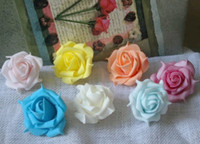 Wholesale 300pcs cm PE Foam Artificial Retro Style Rose Camellia Flower Heads Wedding Christmas Party Decoration