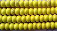 Wholesale 5x8mm yellow Turquoise Rondelle Gemstone Loose Beads quot QF015