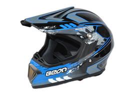 off-road helmet motorcross mountain bike helmets blue black BEON knightRacing helmet motorbike helmet
