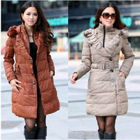 Wholesale New Women s Clothing Han Edition of Hooded long thickening cotton padded jacket coat cotton padded clothes