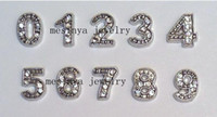 Traditional Charm Chirstmas Charms numbers from 0 1 2 3 4 5 6 7 8 9 floating charm for glass memory living locket promotion gift Xmas keepsake ,no locket included