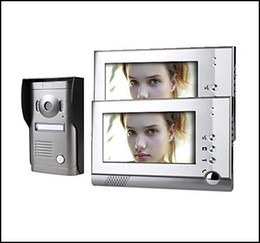 Two 7 Inch Touch Screen Color Video Door Phone System with Alloy Weatherproof Cover Camera HA2DB05