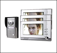 Wholesale Three Inch Touch Screen Color Video Door Phone System with Alloy Weatherproof Cover Camera HA2DB06