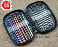 Wholesale Craft Case Aluminum Crochet Hooks Needles Knit Weave Stitches Knitting
