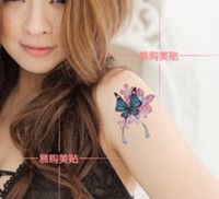 Wholesale Sexy women butterfly totem tattoo stickers Arm Waterproof Temporary Tattoos models sheet