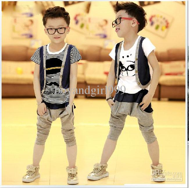 Style Suits In The Summer Of 2013 Boys Fashion Leisure Sports Two Piece Institute Of Children 39 S