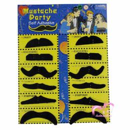 Halloween Christmas Party 12 Stylish Assorted Fake Mustache Moustache Handlebar Costume Pro Make Up Free Shipping