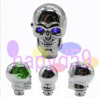 Wholesale car gear knob MT AT gear shift knob Skull style LED light universal car personality modification gear stick momo metal gear head free ship
