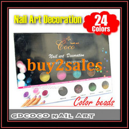Wholesale Fashion Nail Beads For Nail Designs COCO Colors Nail Art Decoration Set Nail Sticker With Retail Box CN Post sets