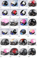 Wholesale 2013 new Half Motorcycle amp Motorcycle Helmet amp Goggles amp Visor New Vespa Open Face XS S M L XL A1 A24