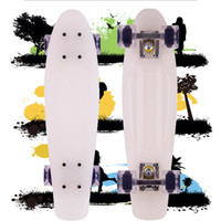 Cheap 22inch Penny Skateboards Best White with Transparent Wheels New Fresh PP Material Penny Cruiser