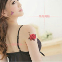 Wholesale A1 Fashion Rose totem DIY tattoo stickers Temporary Tattoos hand shoulder stickers sheet