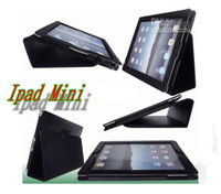 Wholesale Christmas gift PU inch mini Leather Case Cover For Ipad Mini Tablet PC Protector Pouch Bags Smart Magnetic