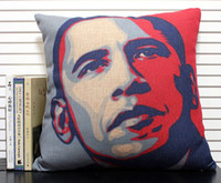 Wholesale Novelty cool US president Obama s Portrait pattern cushion cover home decor throw pillow case