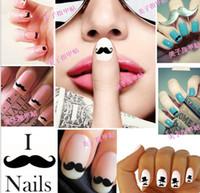 Wholesale New Nail Art Sticker MZ W01 Popular Nail Sticker D Nail Stickers DIY mustache Nail decals