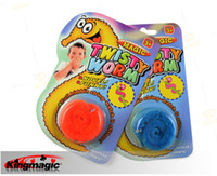Wholesale 10piece lotMagic worm Squirmles Slideyz Twisty worm wiggles Bulk packing Magic Tricks close up magic