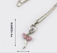 Bohemian ballet sample - sample order Popular ShanZuan ballet pink skirt girl necklace hostess personality necklace