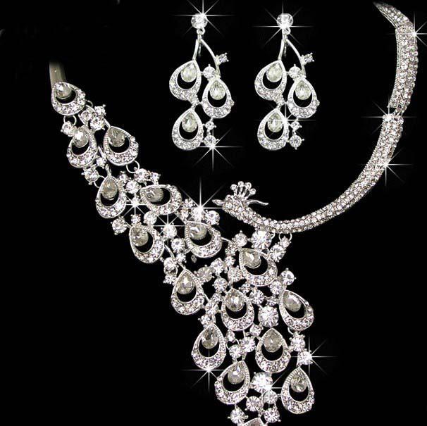 Wholesale captivating jewelry set wedding bridal crystal for Bridesmaid jewelry sets under 20
