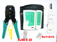 Wholesale Brand New Network LAN Cable Crimper Tester RJ45 Striper Impact