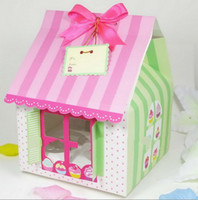 Wholesale PVC Window Four Cupcake boxes Cake boxes
