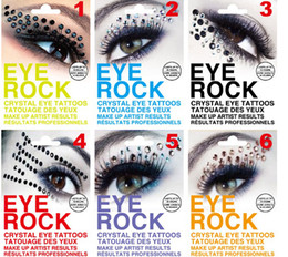Wholesale new arrival sexy bling eye rock luxury crystal eyeshadow stickers eyelip tattoo pairs