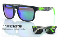 Wholesale SPY sunglasses AAA Quality SPY OPTIC KEN BLOCK HELM Cycling Sunglasses With black bag and sticker label