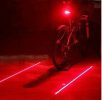 Wholesale Bike Laser Light Cycling Safety Led Lamp Bike Light Bicycle Rear Tail Light Laser LED