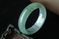 Wholesale Natural Burma jade bracelet jade bracelet ice kind of light green base oil floating green counters authentic A cargo with gambling stone pit