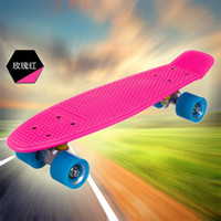 """22inch Pink New Fresh PP Material New Arrival Hot Sale New Honeycombed Designs 22"""" Pink Penny Skate Penny Nickel Nickel Skateboard Penny Cruiser Penny Cruiser Skateboard"""
