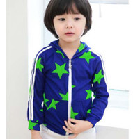 Wholesale Kids Sweatshirts Sports Hoodies Activewear Children Hoodie Sweatshirts Long Sleeve Hooded Tops Coats Fashion Star Printed Casual Cardigan