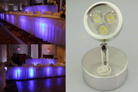 Wholesale Corldess LED under table up lamp for event wedding party decor light rechargeable battery power free ship