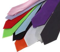 Wholesale Fashion Silk Men s Neck Tie Necktie Formal Party Solid Color Plain