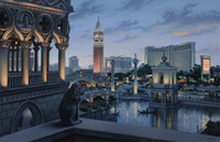 Wholesale Hot selling HD print oil painting on canvas I Love Las Vegas by Evgeny Lushpin x11