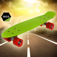 "22inch Green New Fresh PP Material PENNY SKATEBOARD Honeycombed Designs 22"" Orange Green COMPLETE LONGBOARD Nickel Skateboard skateboard Peeny board"