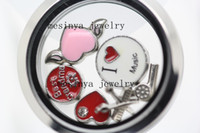 Wholesale magnetic closure L stainless steel color mm plain memory glass locket pendant no floating charms