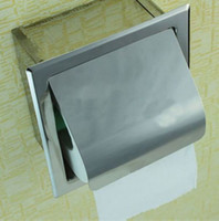 new as the picture opp Wholesale Free Shipping Drop Shipping Luxury 304 Stainless Steel Tissue Box Cover Holder Toilet Paper Roll Container 1H0286